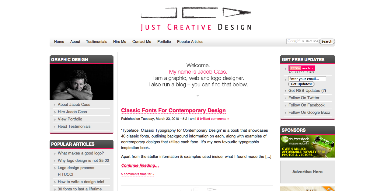 Interview With Jacob Cass of Just Creative Design